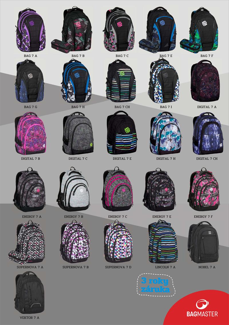 250635d3a9b Bagmaster 2017 - studentské a školní batohy