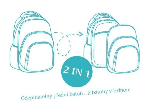 ... Školní batoh EXPLORE Srdíčka 2 v 1 fialový 5a57f36680