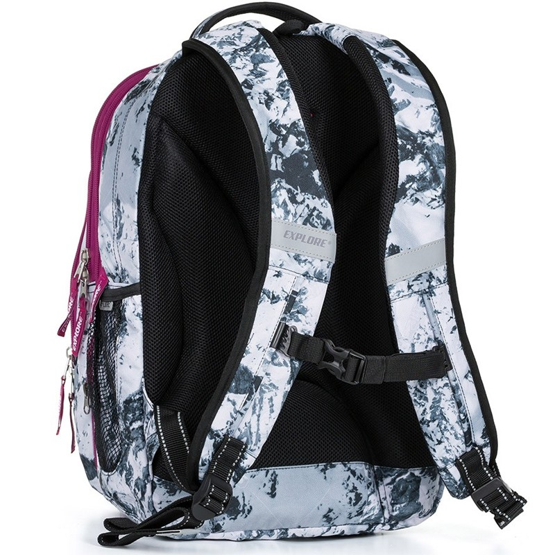 88e13a6c84 Školní batoh EXPLORE BAR Snow 2 v 1 ...
