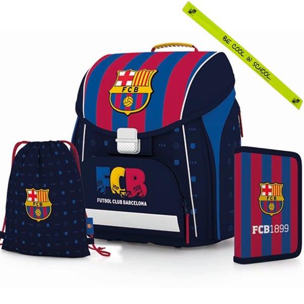 Školní aktovka Premium FC Barcelona - SET + reflexní pásek a doprava zdarma