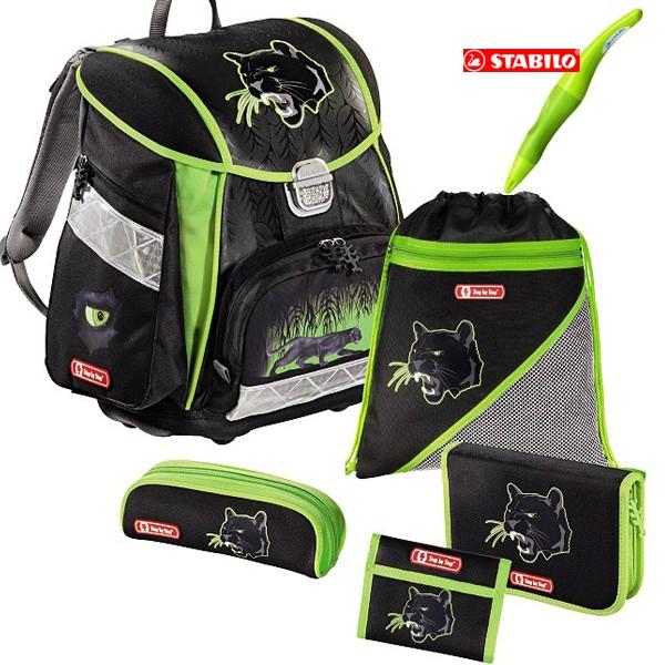 Školní batoh Hama Černý panter - set