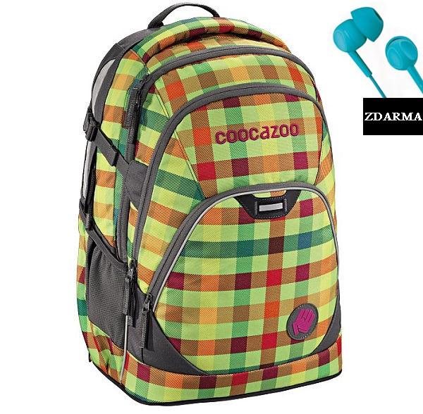 Školní batoh Coocazoo EvverClevver2, Hip To Be Square Green