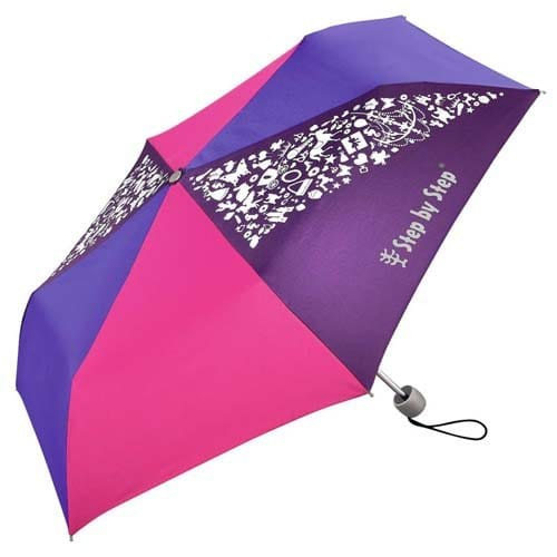 Dětský skládací deštník, růžová/fialová/modrá