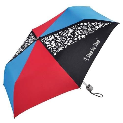 Dětský skládací deštník, černá/červená/modrá