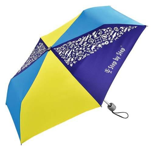 Dětský skládací deštník, žlutá/modrá
