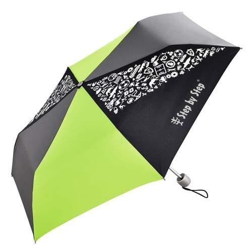 Dětský skládací deštník, černá/šedá/zelená