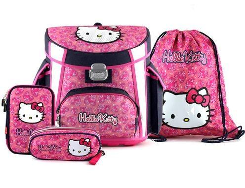 Školní aktovka Hello Kitty 4dílný set  e376b3078a