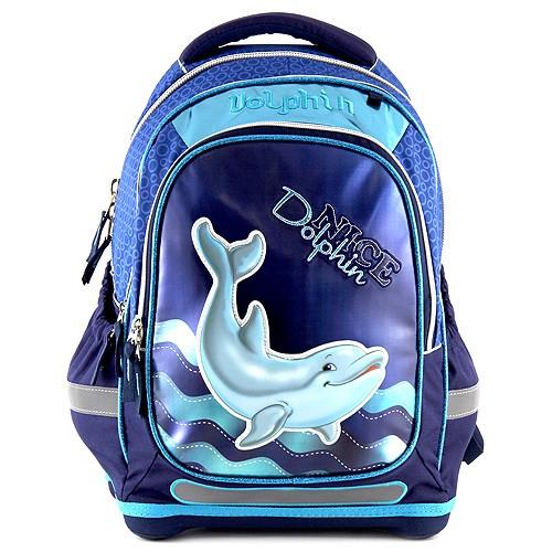 Target batoh 3D Dolphin barva modrá