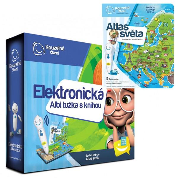 Albi Elektonická tužka s knihou Atlas světa interaktivní hračky