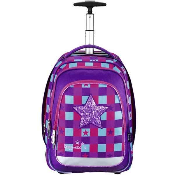 Školní batoh Baggymax Trolley, Pink Star
