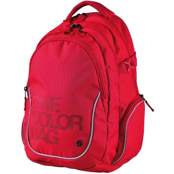 Studentský batoh Stil One Color červený  016f5e9ece