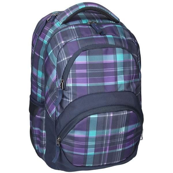 SPIRIT batoh FREEDOM 01 fialová Studentský dvoukomorový batoh