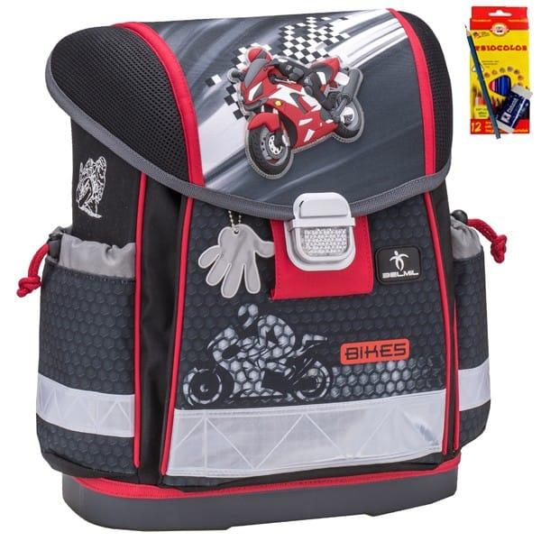 Školní batoh Belmil 403-13 Moto Racer+ doprava a potřeby Koh-i-noor ZDARMA