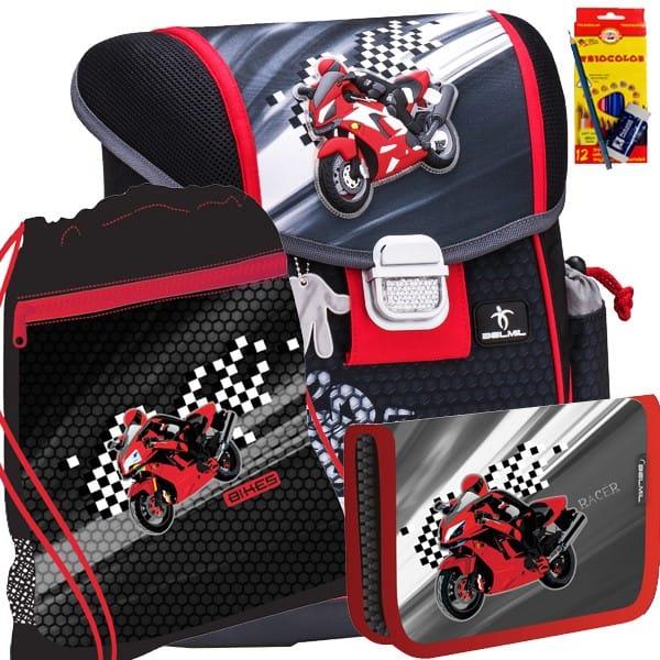 Školní batoh Belmil 403-13 Moto Racer SET + potřeby Koh-i-noor 85c8507674