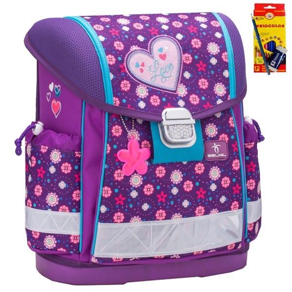 Školní batoh Belmil 403-13 Flower Love+ doprava a potřeby Koh-i-noor ZDARMA