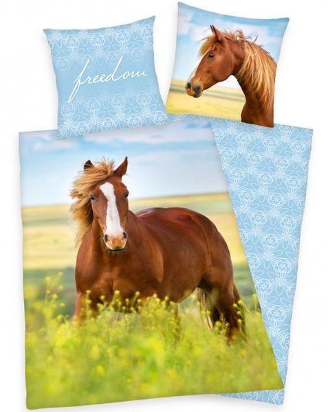 HERDING Povlečení Kůň freedom 140x200 70x90 dívčí povlečení