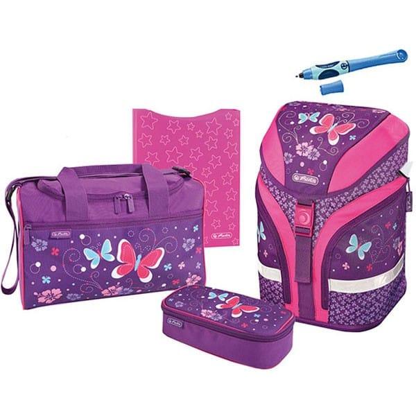 fa14b1f84e7 Školní batoh Herlitz Motion Motýl fialový set