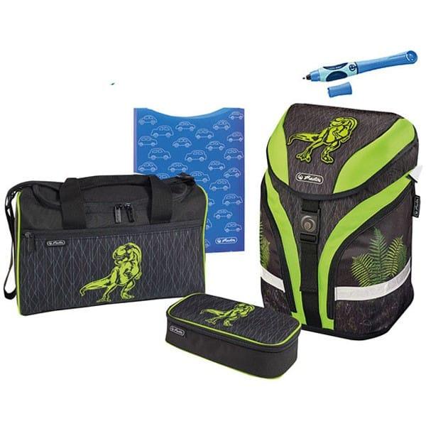Školní batoh Herlitz Motion Dino zelený set