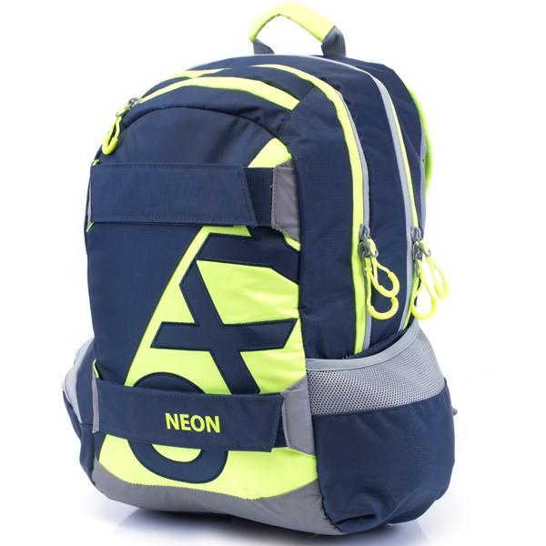 ec506a4cbe Studentský batoh OXY Sport Neon Dark Blue