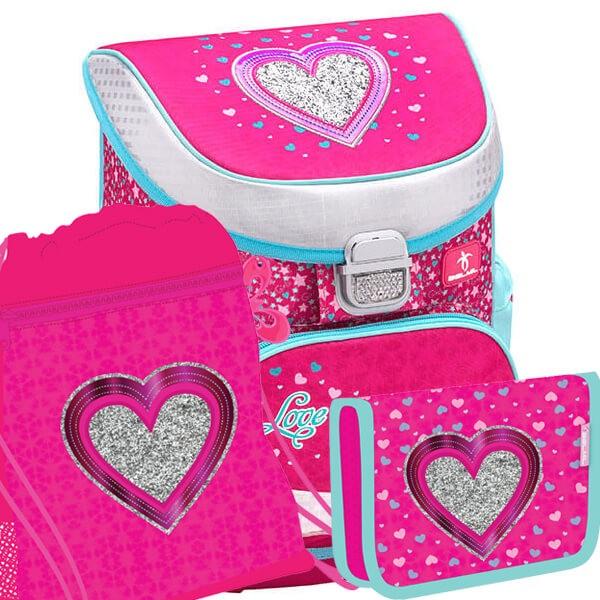 08a68743e00 Školní batoh Belmil MiniFit 405-33 Heart SET