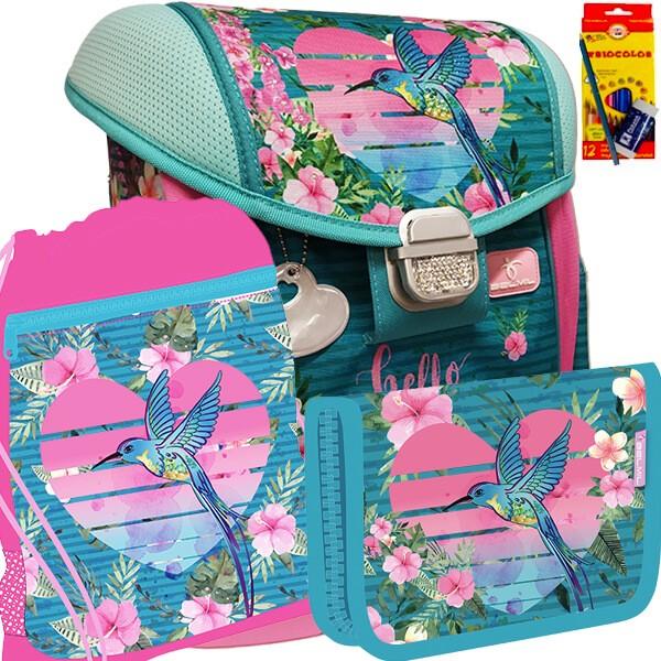 b9b60b0f8cd Školní batoh BELMIL 403-13 Hello Summer - SET + pastelky Koh-i-