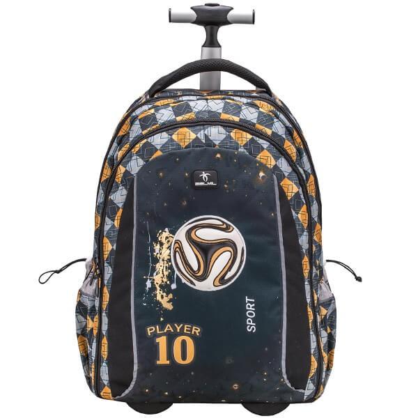 Školní batoh Belmil 338-45 Football na kolečkách  1016e5ff53