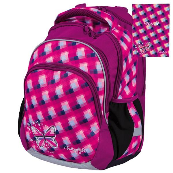 2e0e6777fac Školní batoh Stil Junior Butterfly + úkolníček zdarma