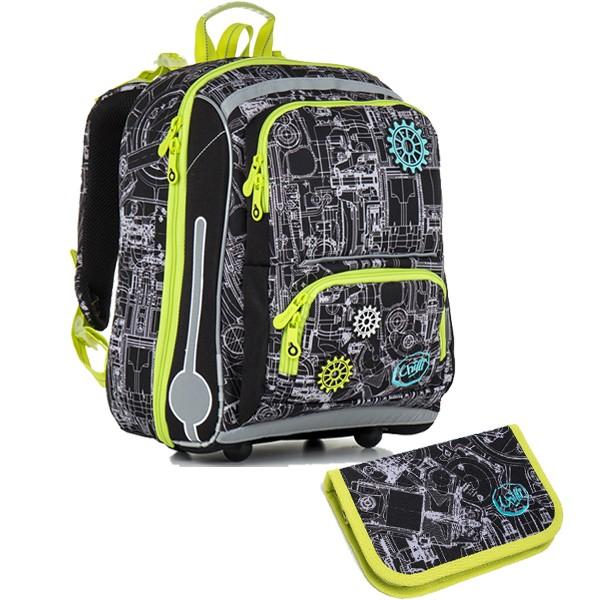 Topgal školní batoh pro prvňáčky sada pro školáka CHI 785 A SET SMALL