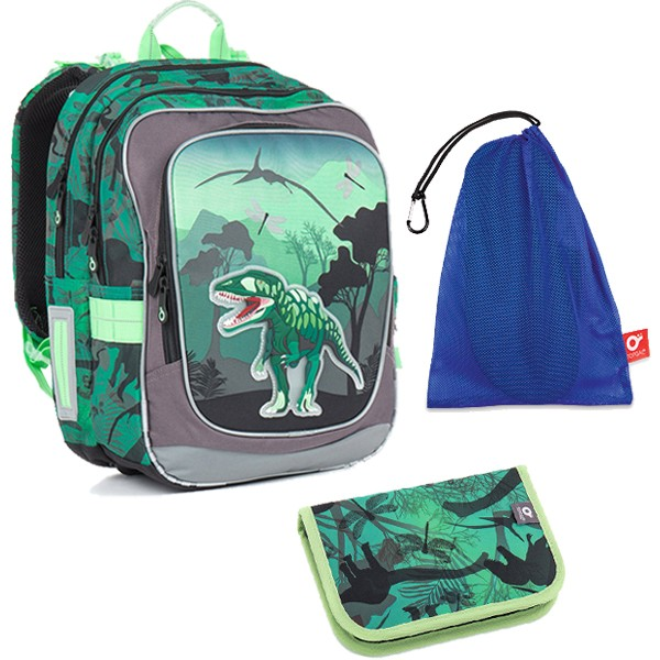 Kvalitní školní batohy a aktovky v motivu dinosauři  d485e31a23