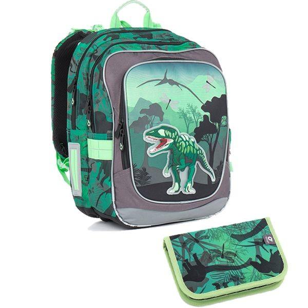 Topgal Školní batoh 2 dílný set Small CHI 842 E Greena