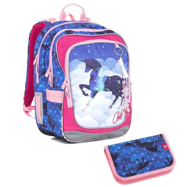 07d09191ee4 Topgal Bagland Školní batoh CHI 843 D BLUE ŠKOLNÍ POUZDRO CHI 851 D BLUE