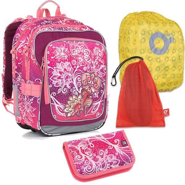 Topgal 4 dílný školní set CHI 863 H Pink Set Large ... 410924e3b7
