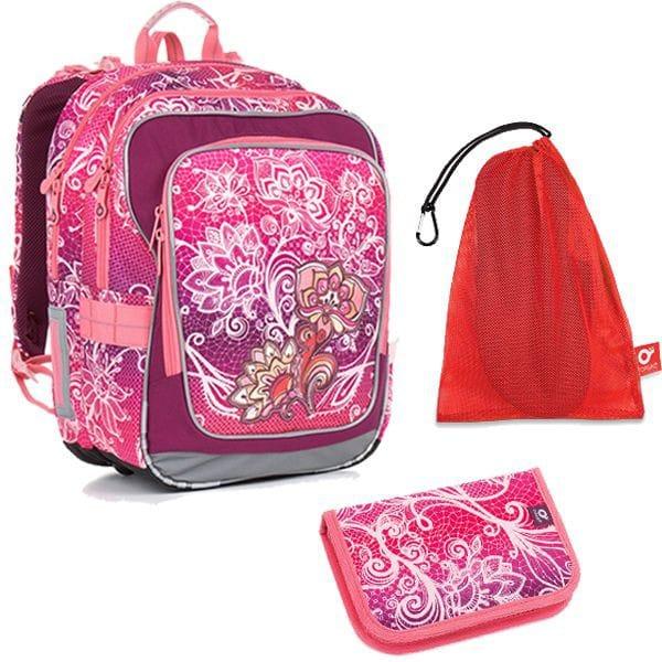 Topgal 3 dílný školní set CHI 863 H Pink Set Medium