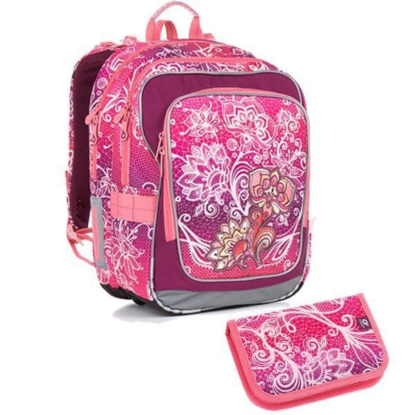 Topgal 2 dílný školní set CHI 863 H Pink Set Small