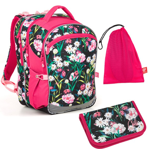 Školní batoh Topgal COCO 18004 G SET MEDIUM