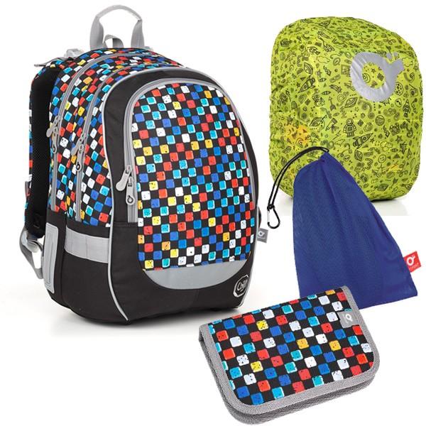 Topgal Školní batoh CODA 18020 B SET LARGE školní sada pro školáka v 2.- 5. třídě