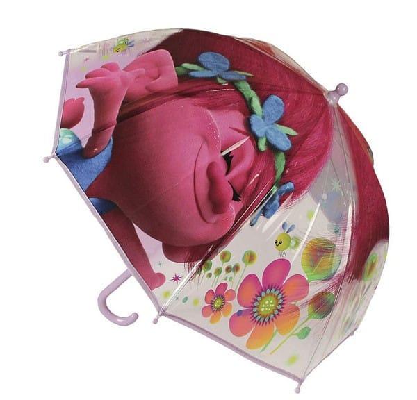 Deštník Trollové Poppy průhledný