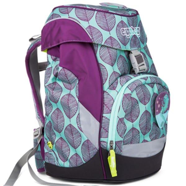 Školní batoh Ergobag prime fialovo zelený chameleon 56906537c3