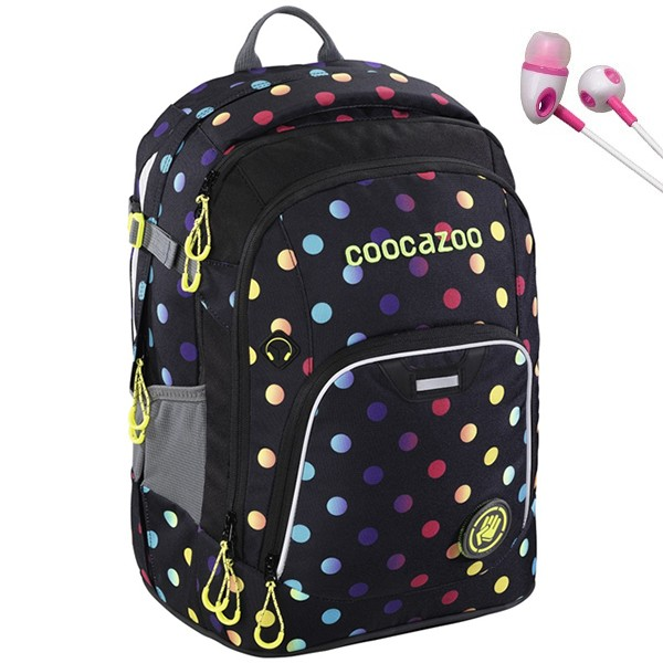 Školní batoh Coocazoo RayDay, Magic Polka Colorful + sluchátka a doprava zdarma