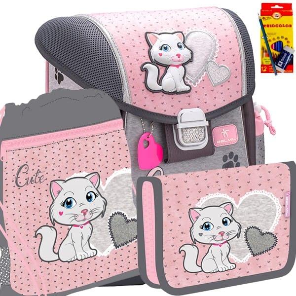 Školní batoh BELMIL 403-13 Cutte Caty - SET + potřeby Koh-i-noor a doprava zdarma