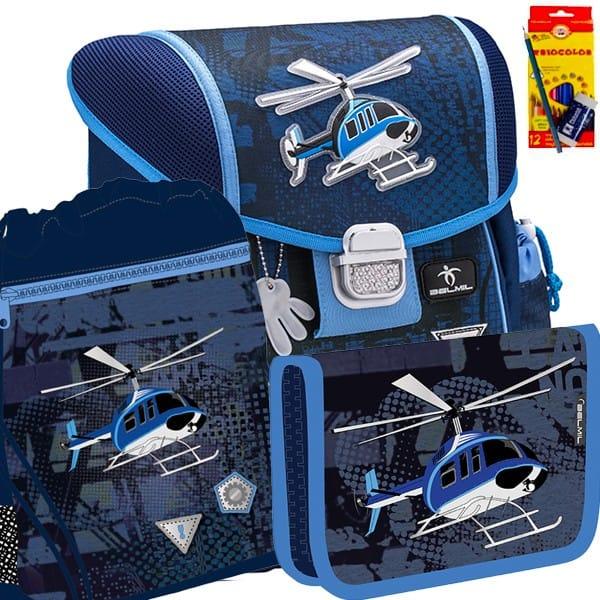 071394a0fa1 Školní batoh BELMIL 403-13 Helicopter - SET