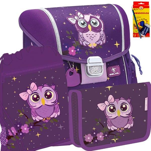 358ec12e3da Školní batoh BELMIL 403-13 Owl - SET + pastelky Koh-i-noor a doprava zdarma