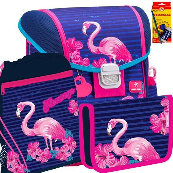 46e161ff1c4 Školní batoh BELMIL 403-13 Flamingo - SET