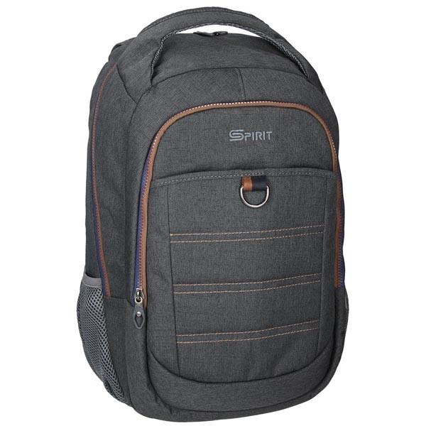 Spirit batoh DENIM 04 šedá dvoukomorový studentský batoh 872b714bc1