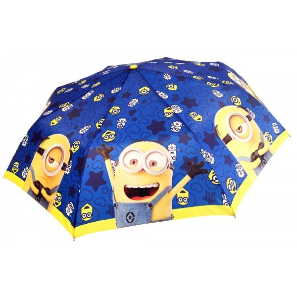 Deštník Já Padouch Mimoni skládací, modrý