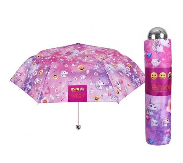 Deštník Emoji růžový skládací