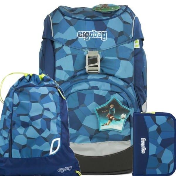 Školní batoh Ergobag prime Blue Stones SET