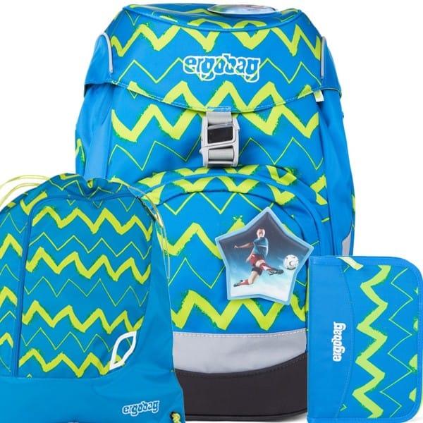 Školní batoh Ergobag prime modrý Zig Zag SET a doprava zdarma