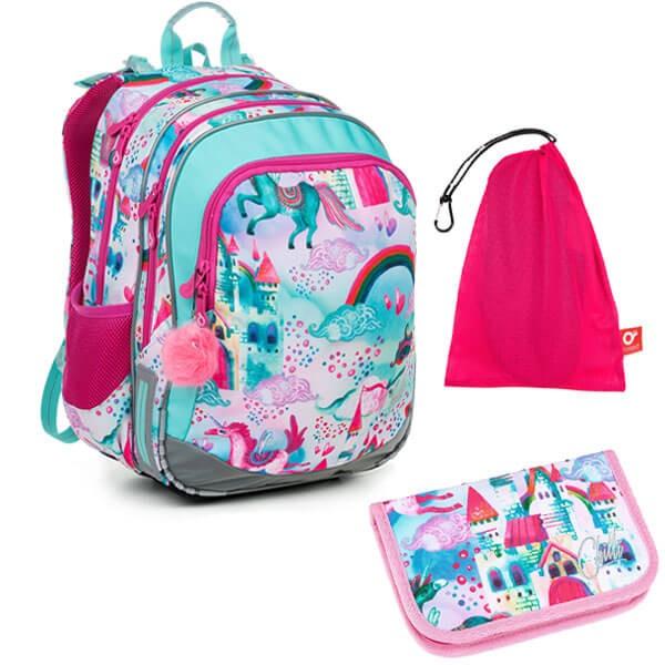 Školní batoh Topgal ELLY 19004 G SET MEDIUM + doprava ZDARMA ad385ca693