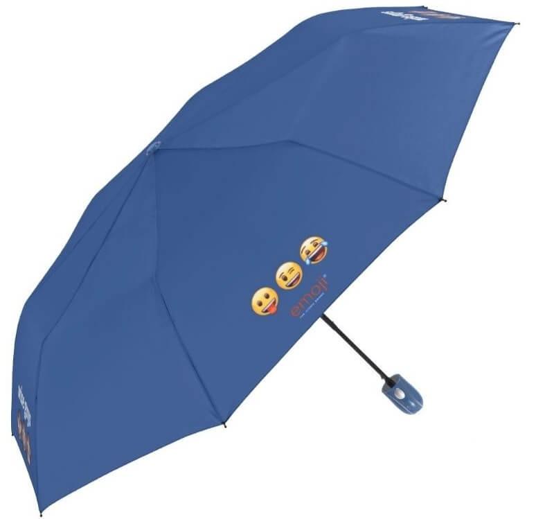 Deštník Emoji skládací modrý